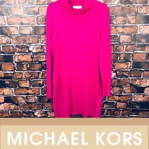 Michael Kors Hot Pink Turtle Neck Sweater Dress